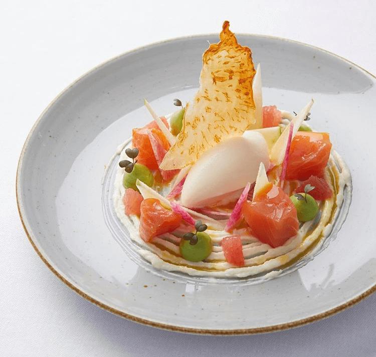 Saumon de bömlo - Auberge de la Chèvrerie Restaurant Molsheim Obernai - France - Griesheim-prés-Molsheim