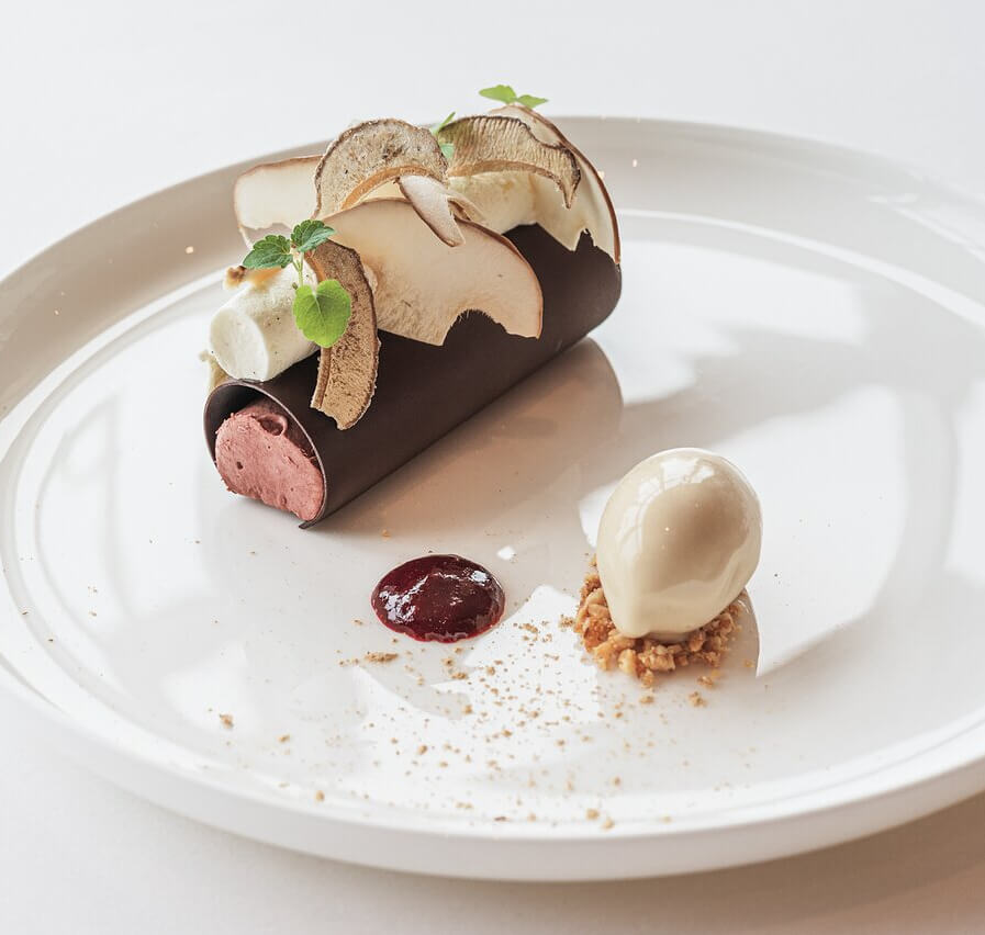 Tubes de chocolat et ganache mûre - Les Roses - Luxembourg - Mondorf-les-Bains